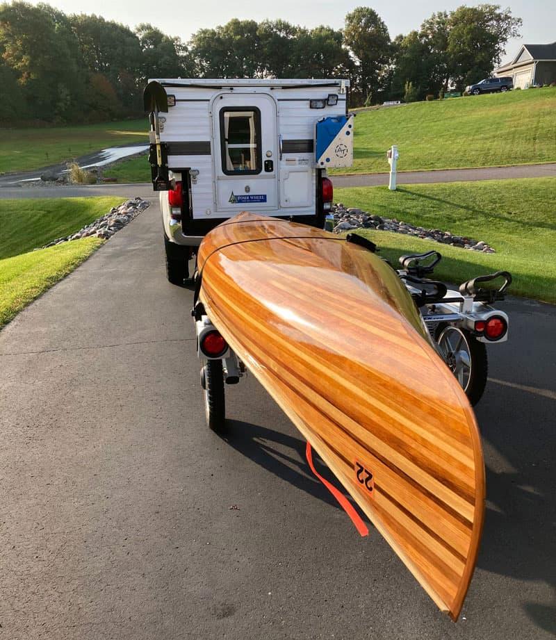 Homemade Canoe Towed Behind Camper