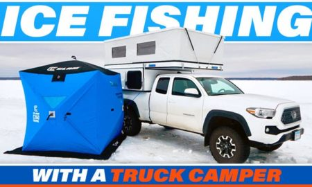 Ice Fishing With A Truck CamperA