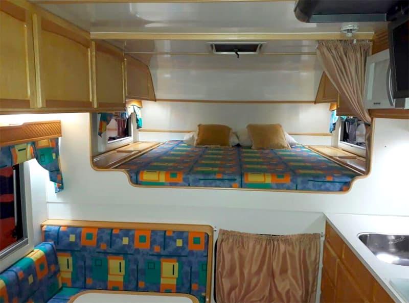 Inside Motor Trailer Camper