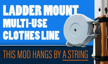 Ladder Mount Clothes Line For Campers