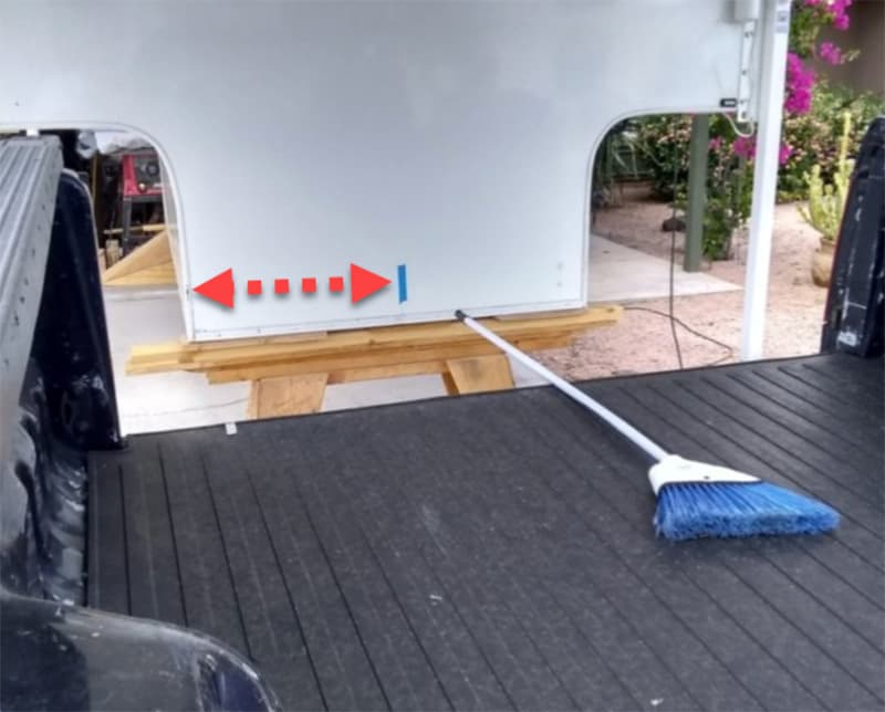 Loading Camper With Broom To Measure