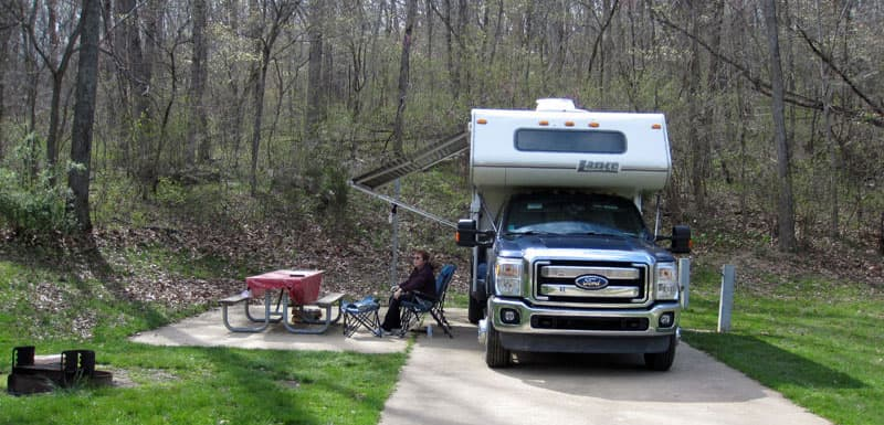 Onondaga Cave State Park, Missouri with a Lance Camper
