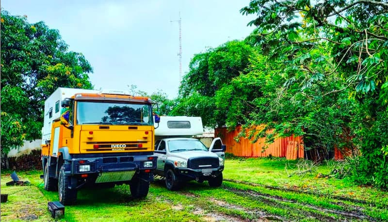 Owns Two Truck Campers Brazil