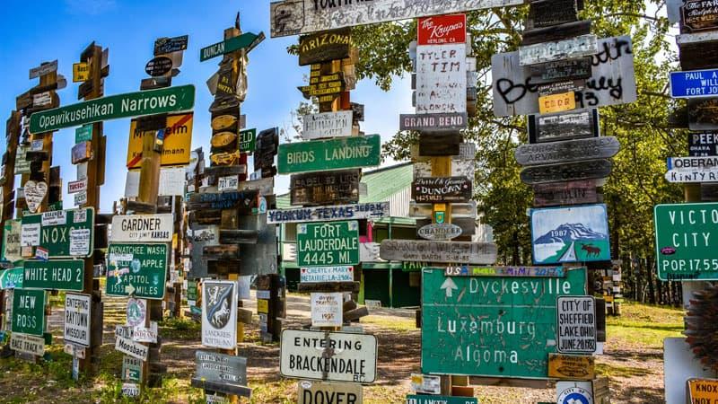 Signpost Forest Chandler