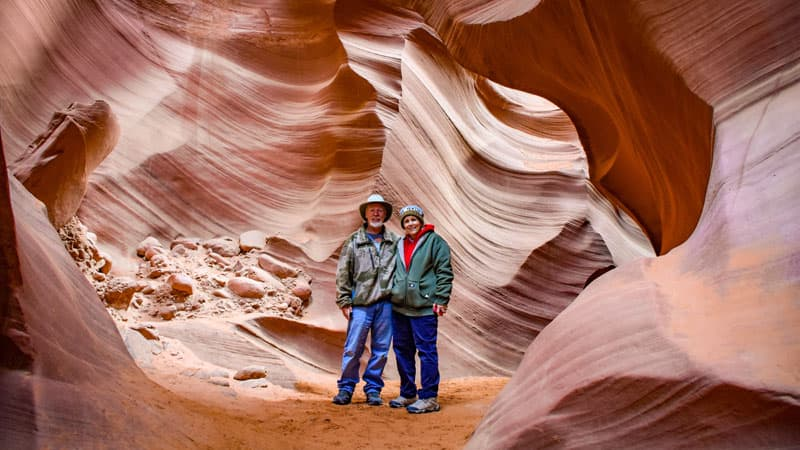 Slot Canyon Ron And Wife
