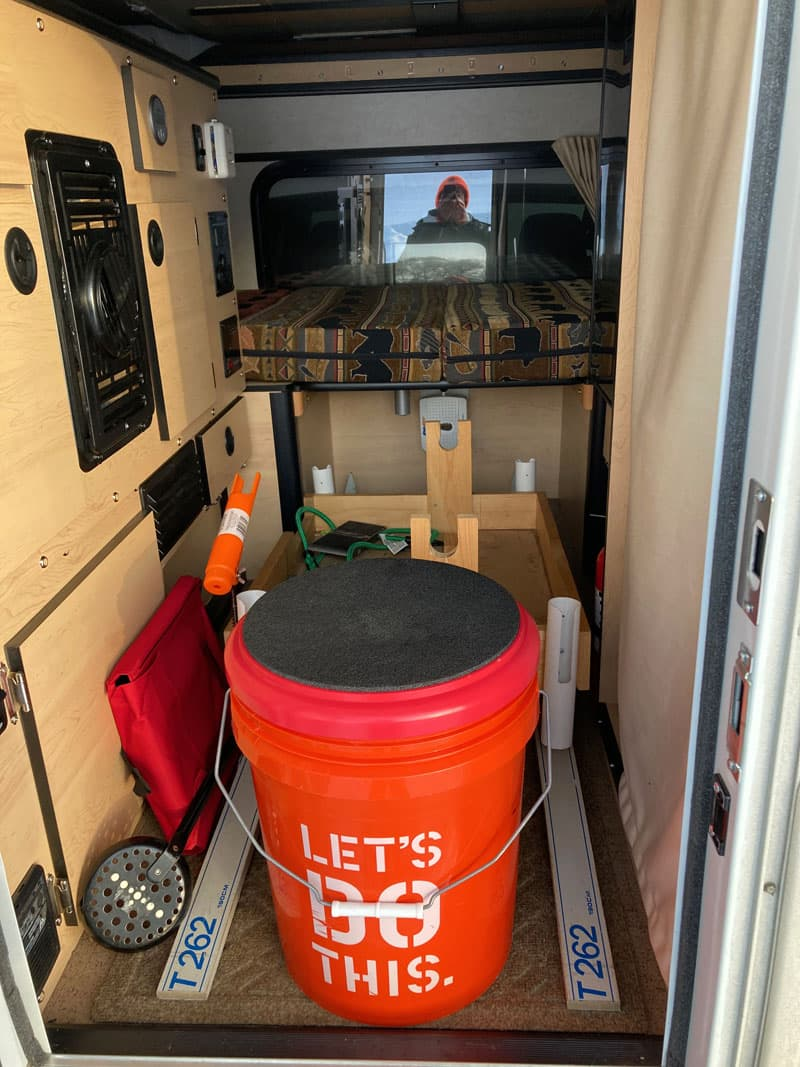 Supplies In Camper For Ice Fishing