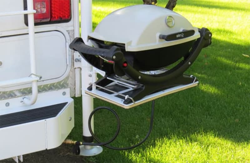 Swing Out Grill Hooked Up Camper Propane