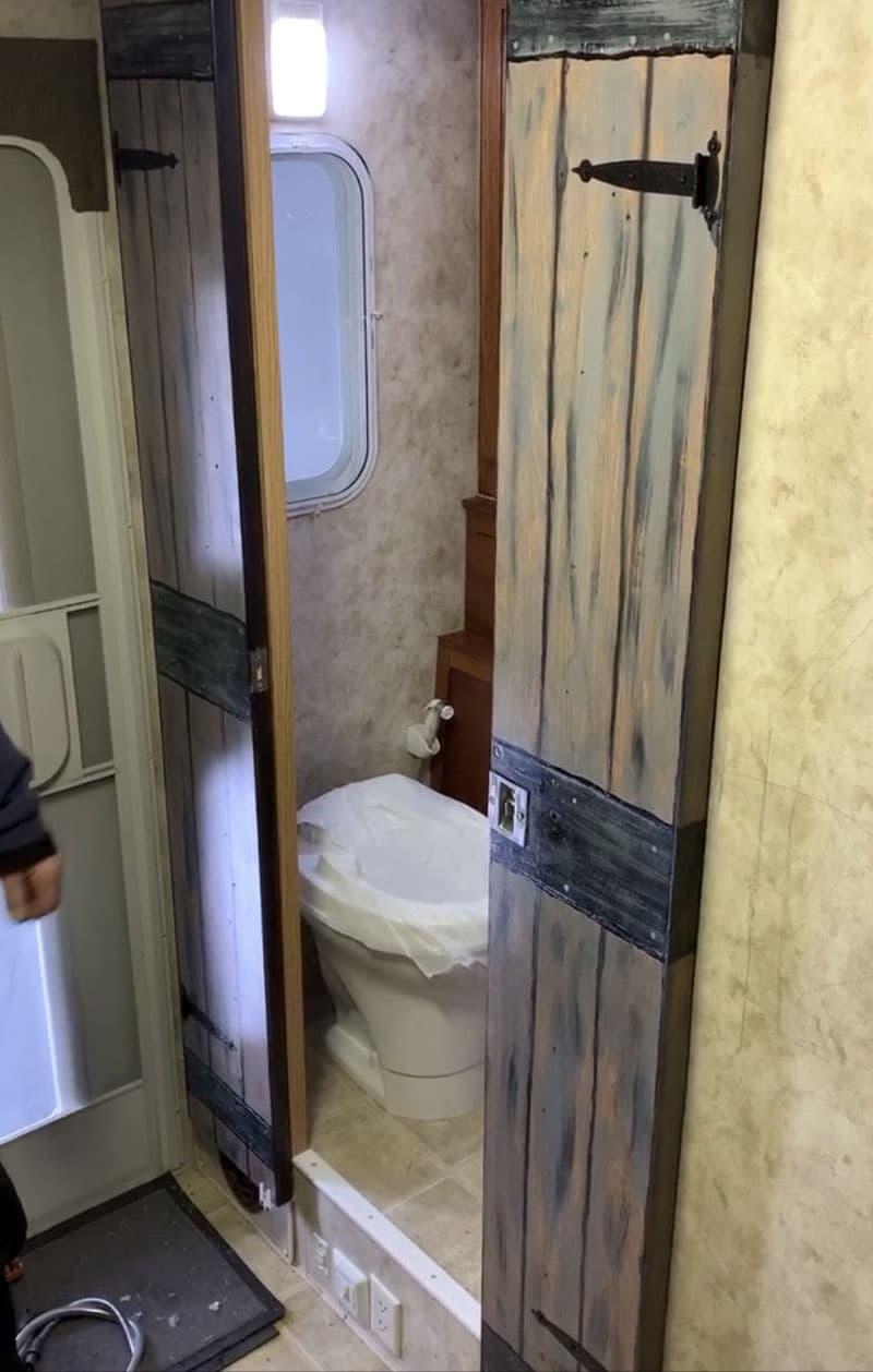 Bathroom Redo New Door