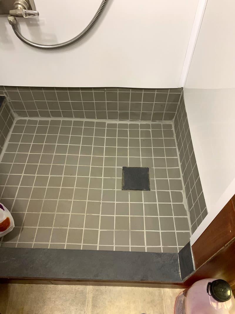 Bathroom Redo Shower Drain Hidden