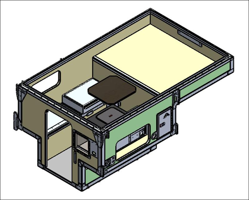 Camp M CAD Model 3D