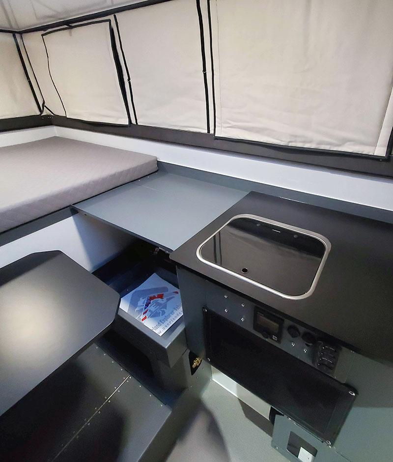 Camp M Interior Kitchen Side