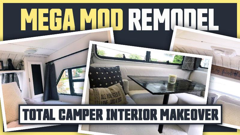Truck camper interior makeover remodel