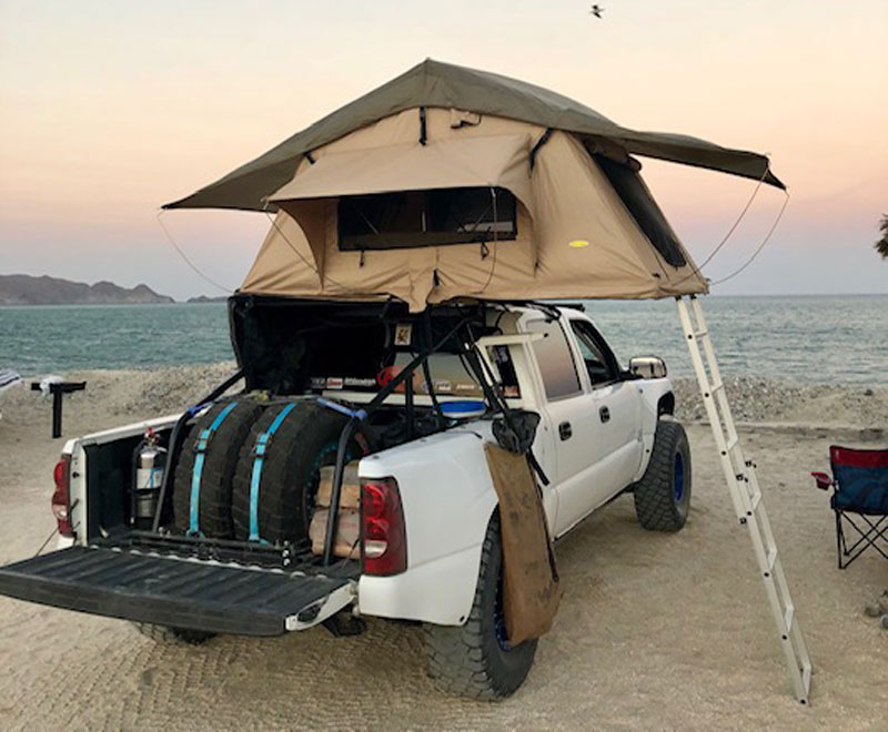 Truckeemctruckface Camped At Gonzaga Bay While Prerunning The SCORE 1000 In Baja Mexico