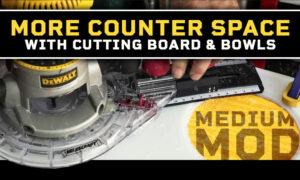 More cutting board in a truck camper