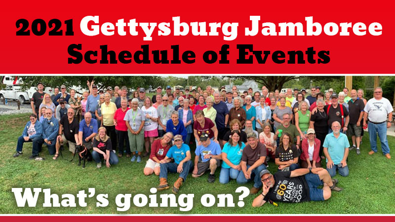 2021 Gettysburg Rally Schedule of Events