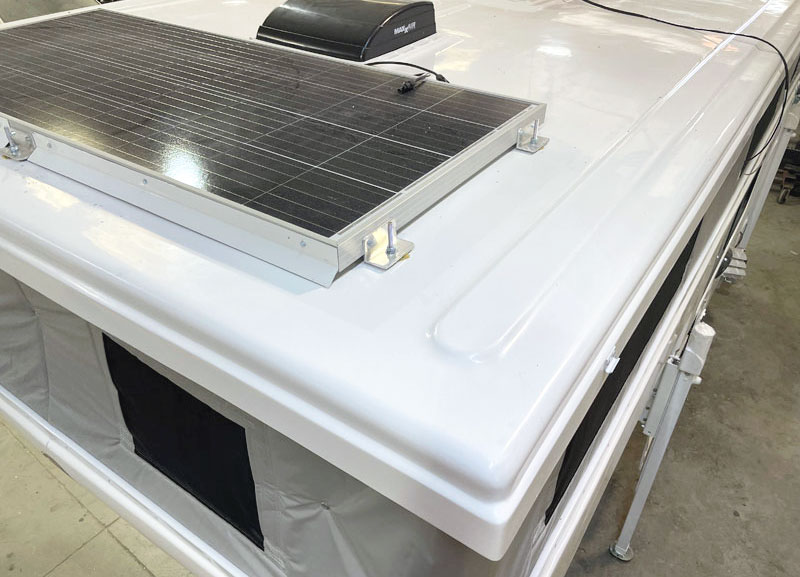 Hallmark one-peice molded fiberglass camper roof