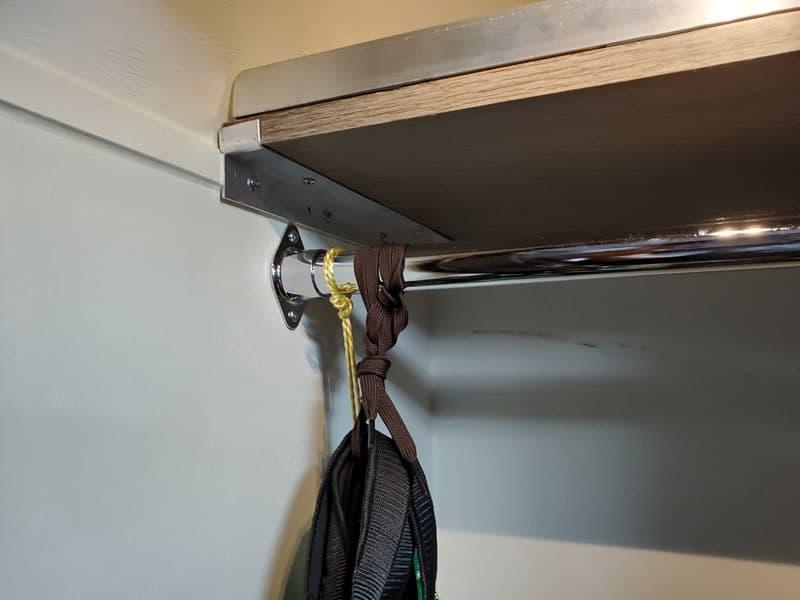 Installing A Camper Wardrobe Shelf - left side