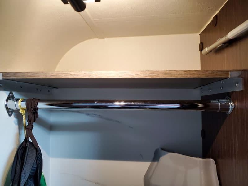 Finished shelf in wardrobe closet