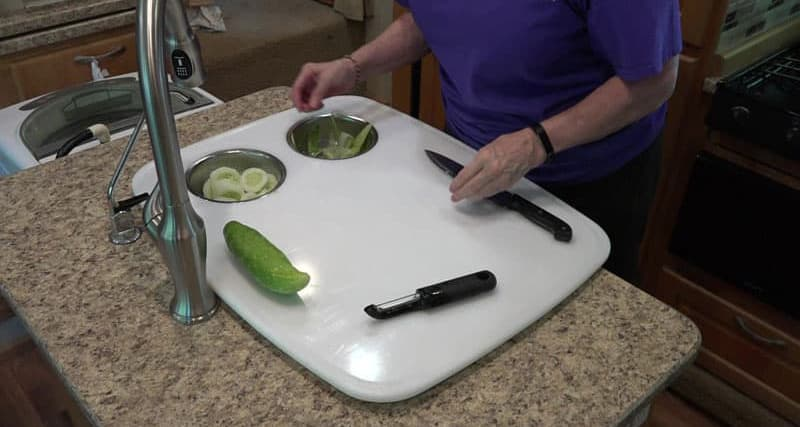 More Counter Space Wife Cutting Cukes