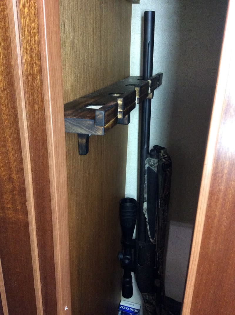 Rifle And Gun Rack In Cabinet