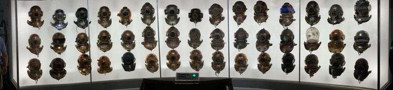 Diving Museum FL Keys Helmets