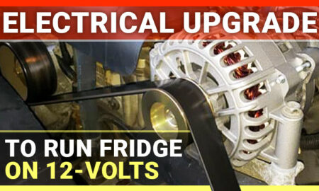 Electrical Update Allowing Camper Refrigerator to Run on 12-Volts