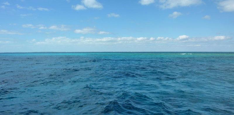 FL Keys Glass Bottom Boat Blue Water