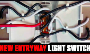 New Entryway Light Switch For A RV or Camper