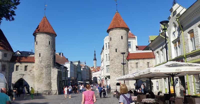 Walking around Tallinn, Estonia