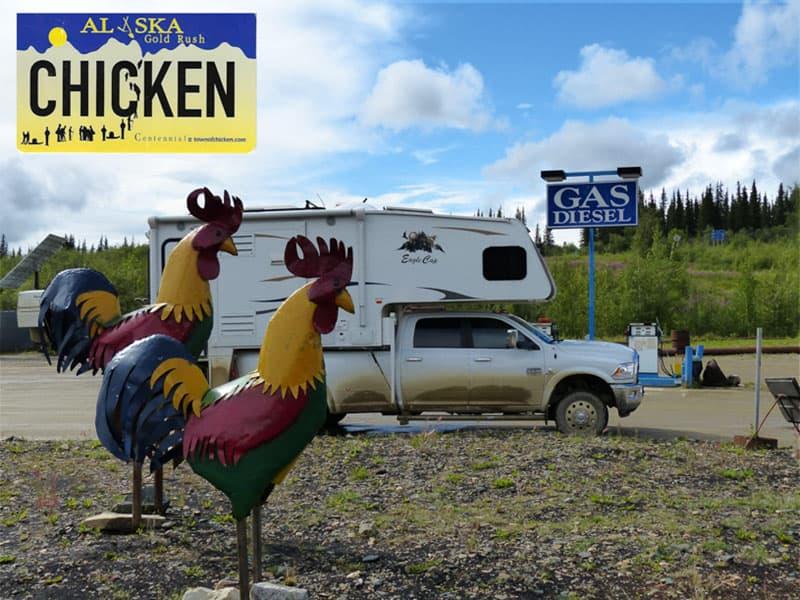 Muddy truck camper, Chicken, Alaska