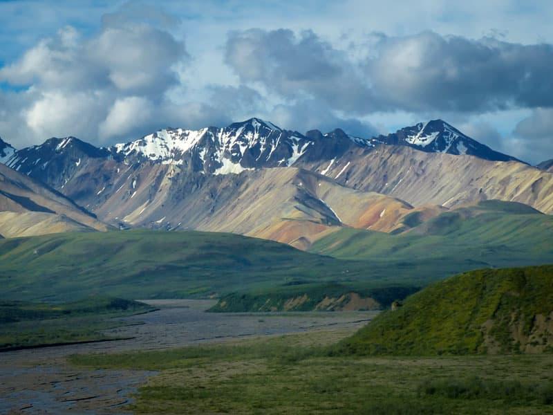 Denali painted mountains