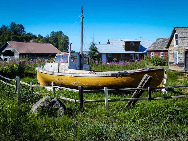 old fishing town of Ninilchik was established by Russians in 1847