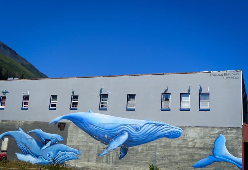 Mural Whales in Seward, Alaska