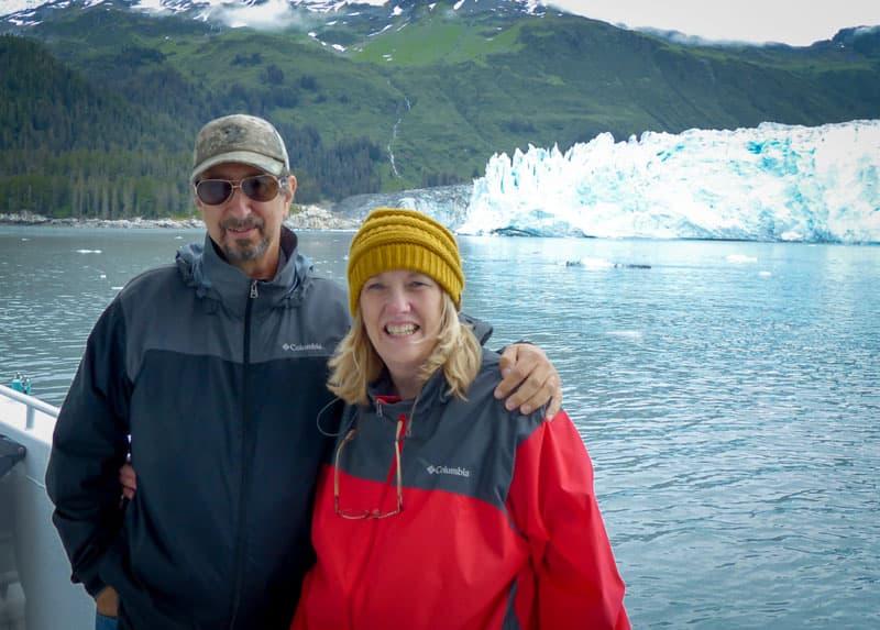 In front of Meares Glacier, Valdez, Alaska