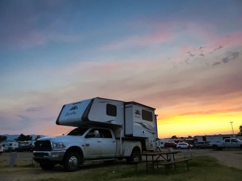 Sheridan Wyoming sunset