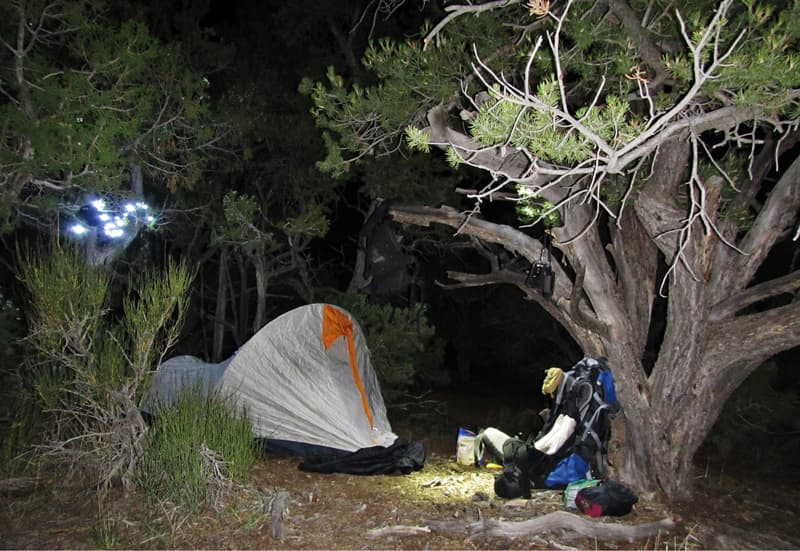 Lonely Cache overnight camp