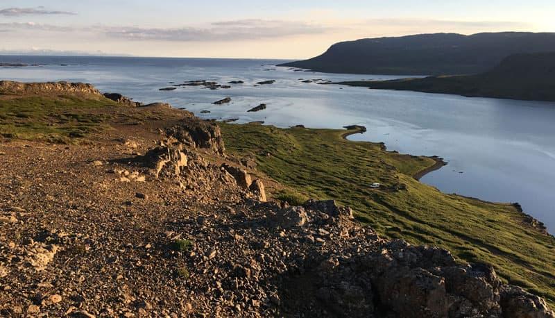 Djupifjorour Towards Northwest Iceland