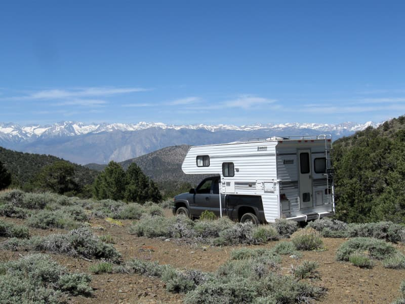A View of the Eastern Sierra Mountains near Bishop CA