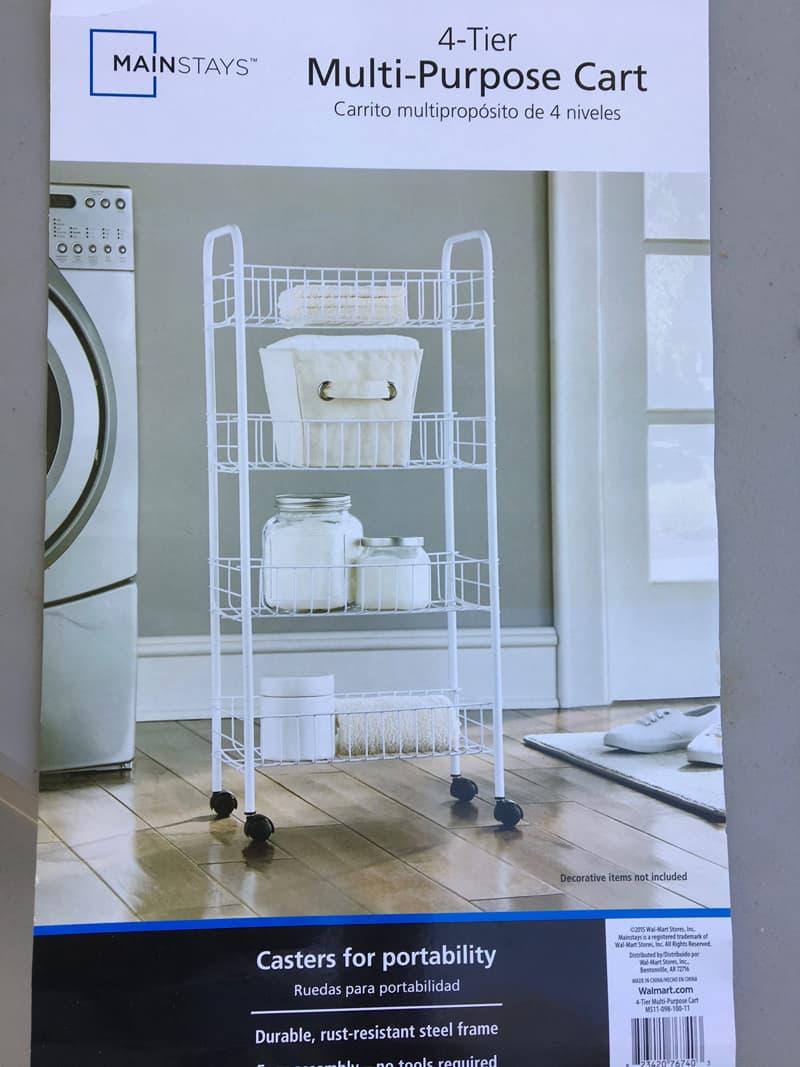 Multi purpose cart turned shelving unit