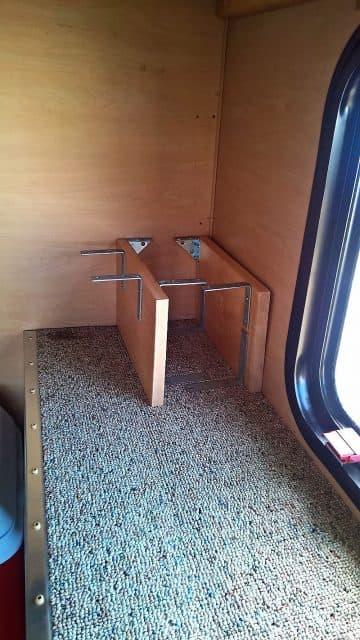 Adding kitchen storage to a pop-up camper
