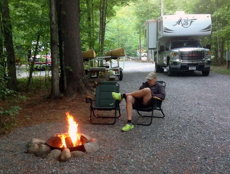 Adirondacks Camping with an Arctic Fox