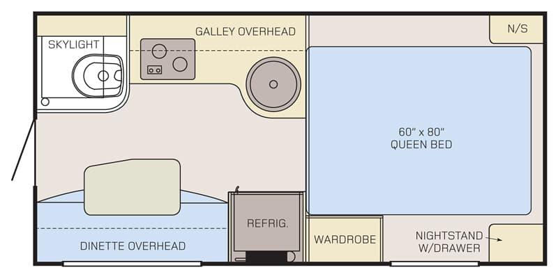 Review Adventurer 80RB Camper Floor Plan