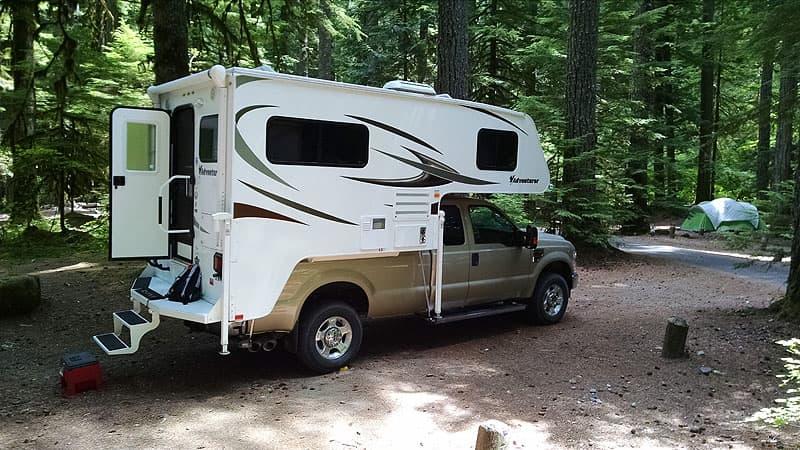 Adventurer 86FB camper in Glacier National Park