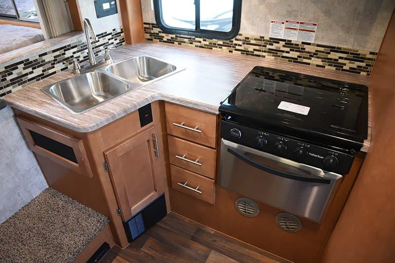 Adventurer 89RBS kitchen countertop material