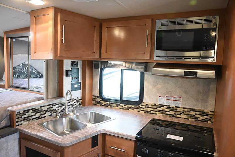 Adventurer 89RBS Upper Kitchen Cabinetry
