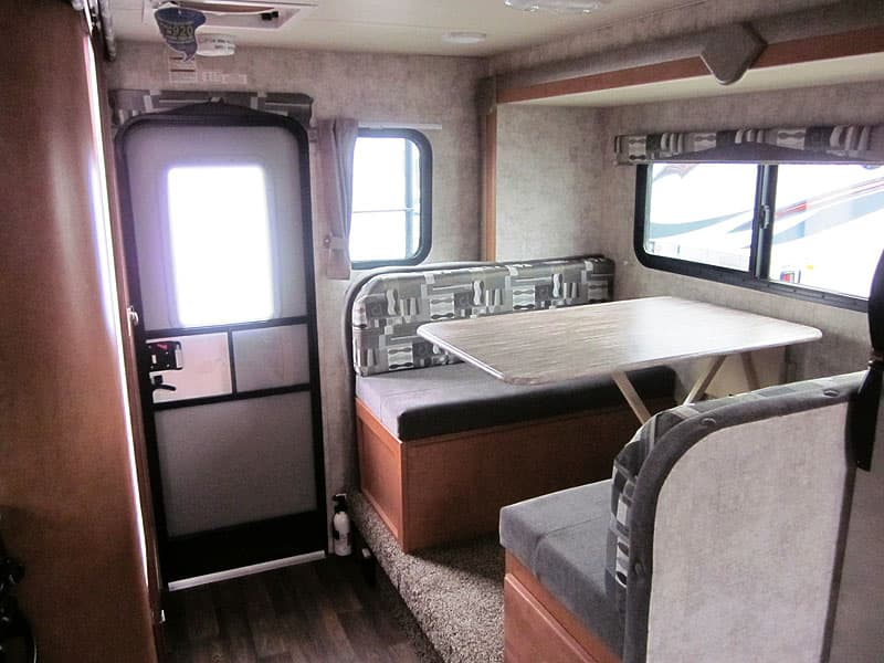 Dinette in the 89RBS with thermal pane windows