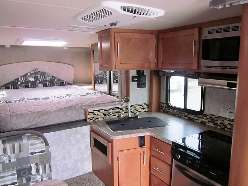 Adventurer 89RBS galley and overcab