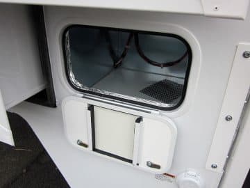 Adventurer 89RBS generator compartment as storage