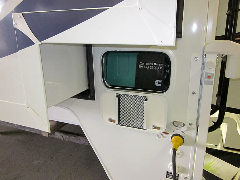 Adventurer 89RBS generator under slide