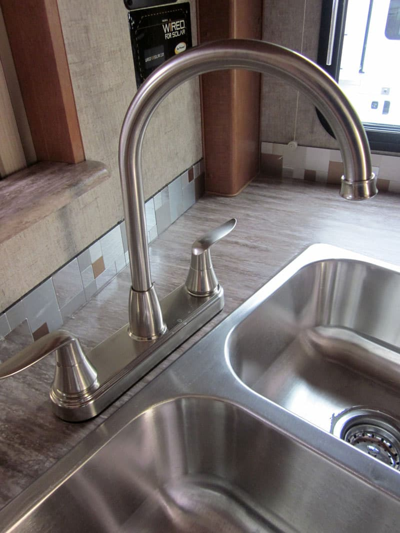 Adventurer campers high faucet in kitchen